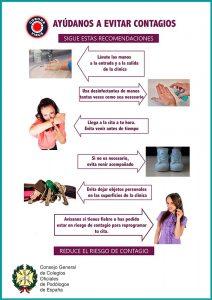 Como evitar contagios - Amb Bon Peu
